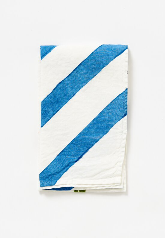 Bertozzi Handmade Linen Kitchen Towel in Blue