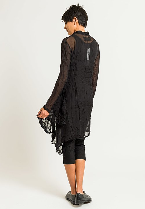 Rundholz Dip Sheer Button-Down Tunic