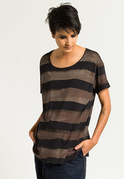 Rundholz Ribbed Jersey Tee in Saphir Stripe