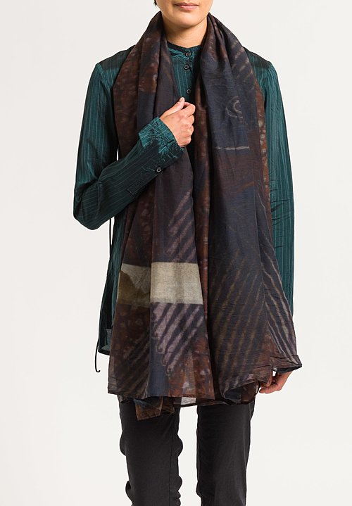 Rundholz Abstract Print Scarf in Des. 038