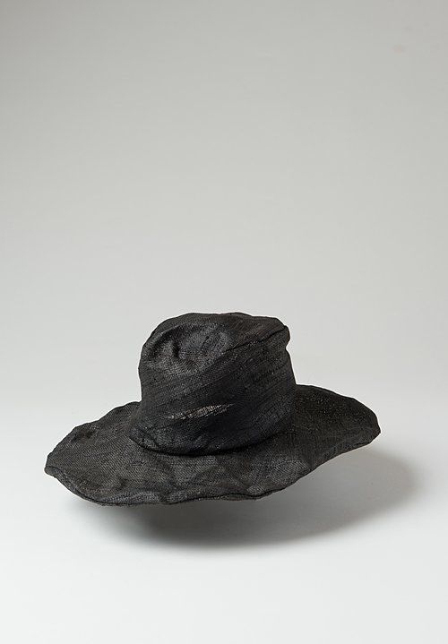 Reinhard Plank Tom Straw Hat in Black