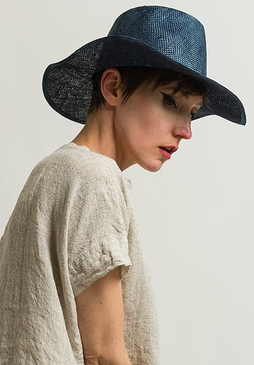 Reinhard Plank Small Nana Hat in Indigo Stone Washed