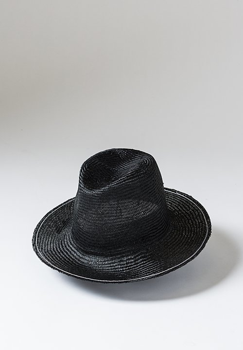 Reinhard Plank Uniform Straw Hat in Black