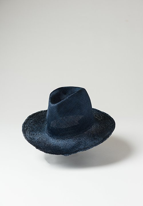 Reinhard Plank Uniform Straw Hat in Blue