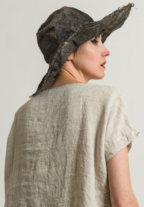 Reinhard Plank Straw Comme Ramie Hat in Black
