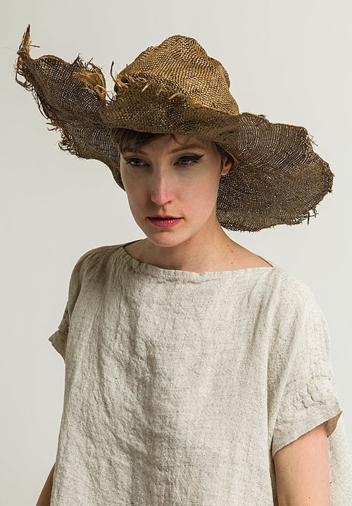 Reinhard Plank Straw Comme Ramie Hat in Gold