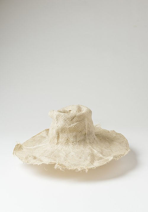 Reinhard Plank Straw Comme Ramie Hat in Natural
