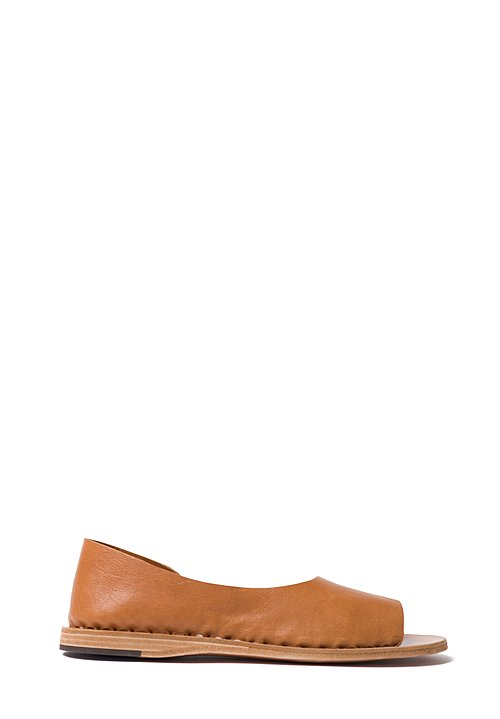 Officine Creative Open Toe & Side Slip-Ons in Tan
