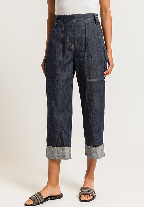 Brunello Cucinelli Denim Utility Trouser