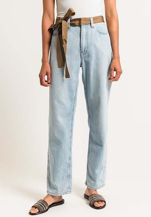 Brunello Cucinelli Loose & Straight Trousers in Light Denim