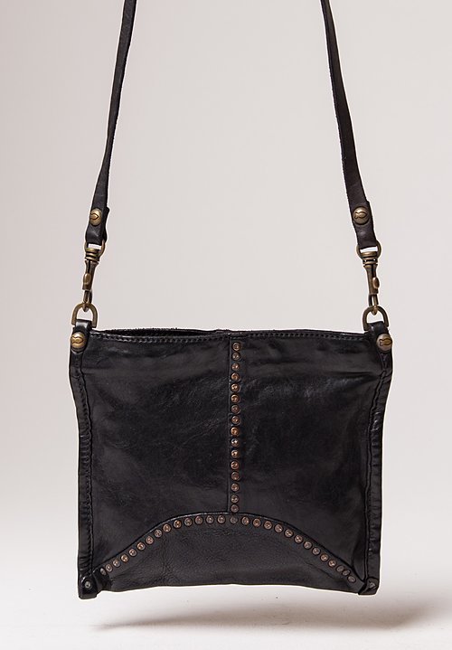 Campomaggi Small Studded Crossbody Bag in Black