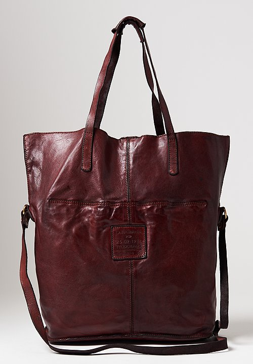 Campomaggi Large Shopping Tote in Wine
