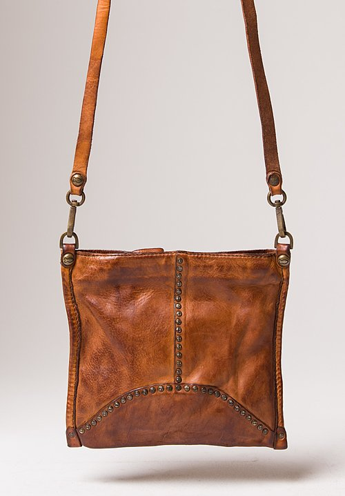 Campomaggi Small Studded Crossbody Bag in Cognac