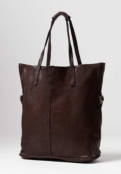 Campomaggi Large Shopping Tote in Brown