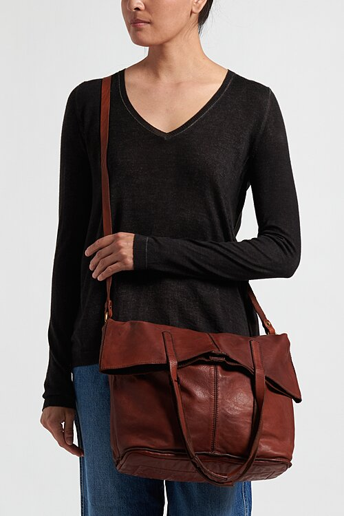 Campomaggi Large Shopping Tote in Cognac