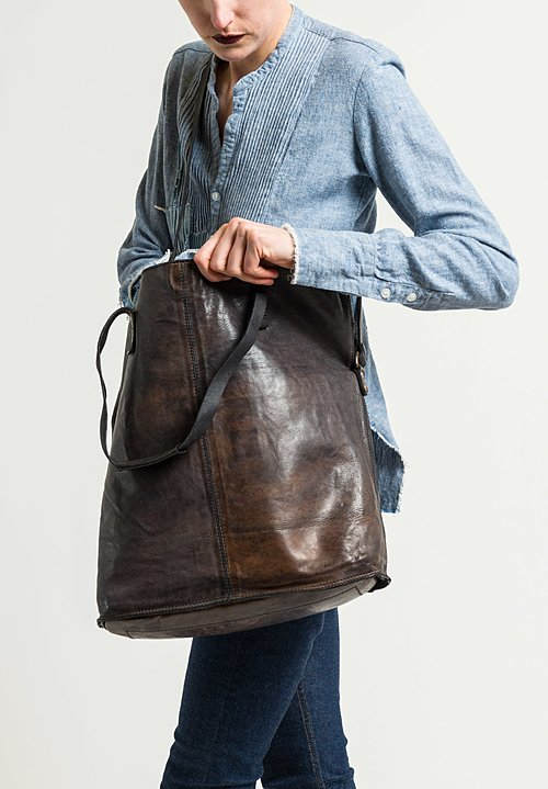 Campomaggi Large Shopping Tote in Grey