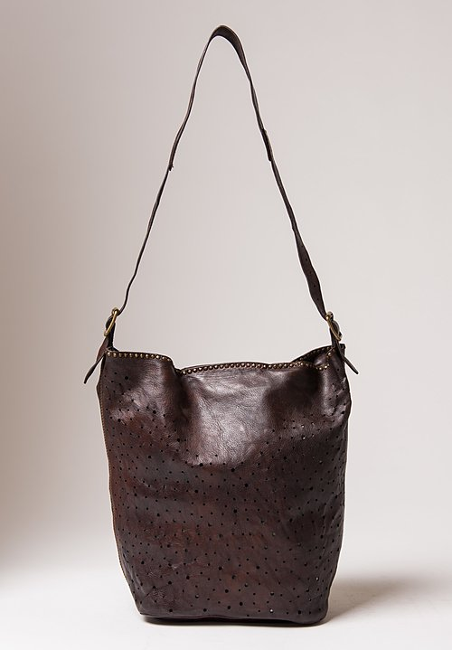Campomaggi Perforated Shoulder Bag in Brown