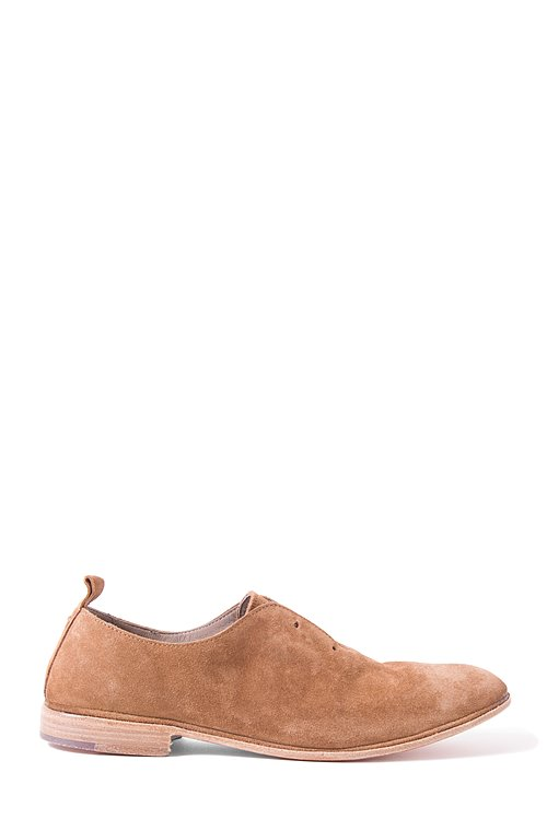 Elia Maurizi Leather Loafer in Softy Sigaro