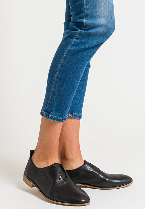 Elia Maurizi Leather Loafer in Avirex Nero
