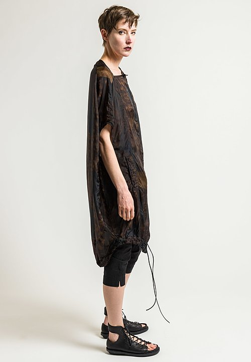 Rundholz Sleeveless Button-Down Tunic in Des. 027