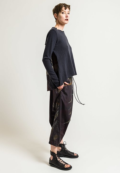 Rundholz Relaxed Sweater with Pleated Back in Saphir/Dis. 03