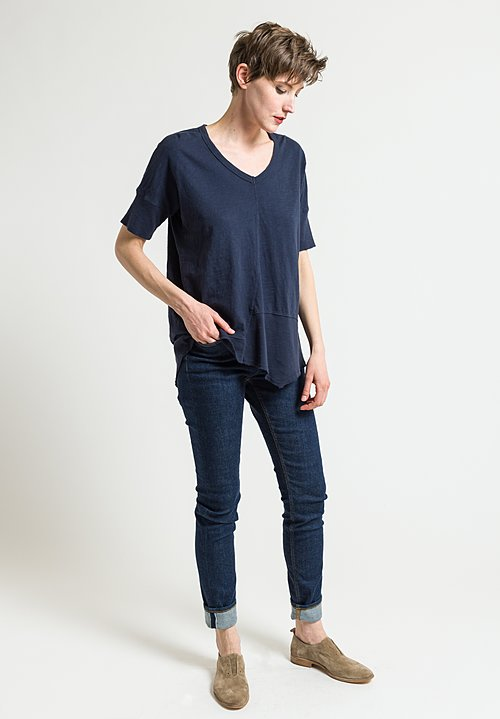 Wilt Twisted Seam Slant Tee in Inky