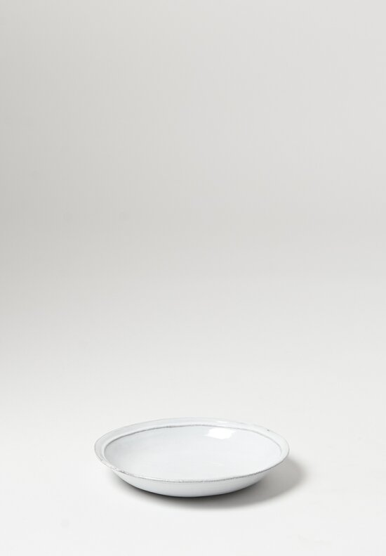 Astier de Villatte Simple Large Soup Plate in White