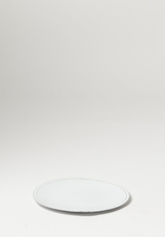 Astier de Villatte Simple Dinner Plate in White