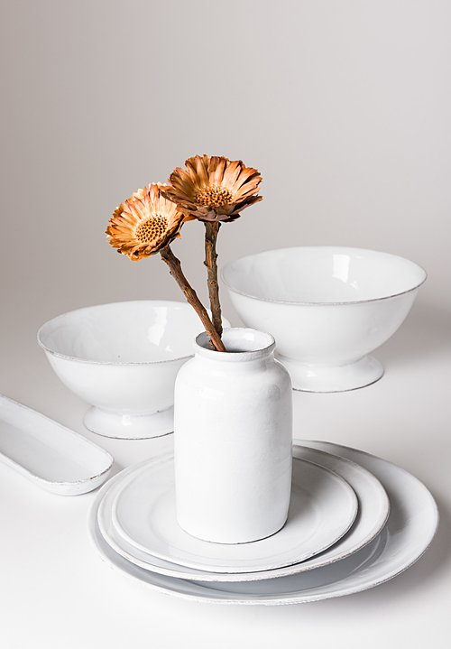 Astier de Villatte Sobre Small Salad Bowl in White