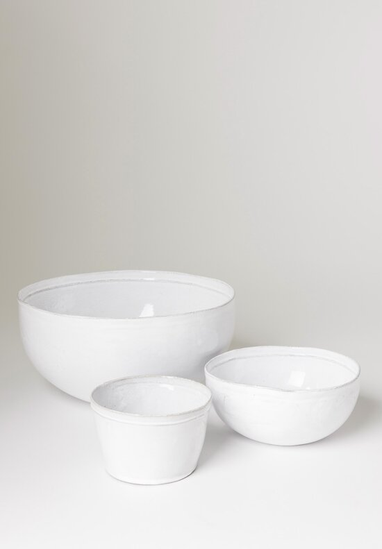 Astier de Villatte Simple Medium Salad Bowl White