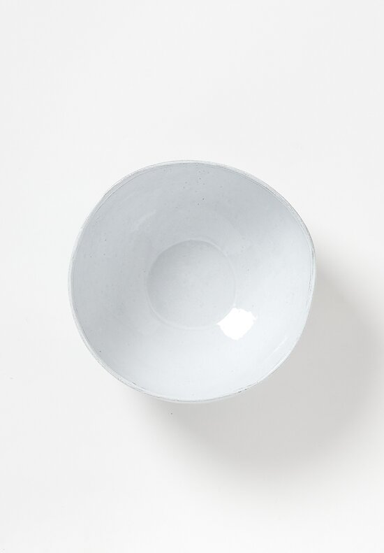 Astier de Villatte Simple Medium Salad Bowl in White