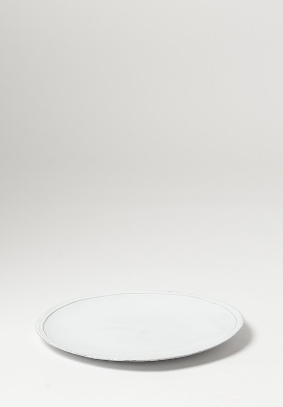 Astier de Villatte Simple Very Large Dinner Plate in White
