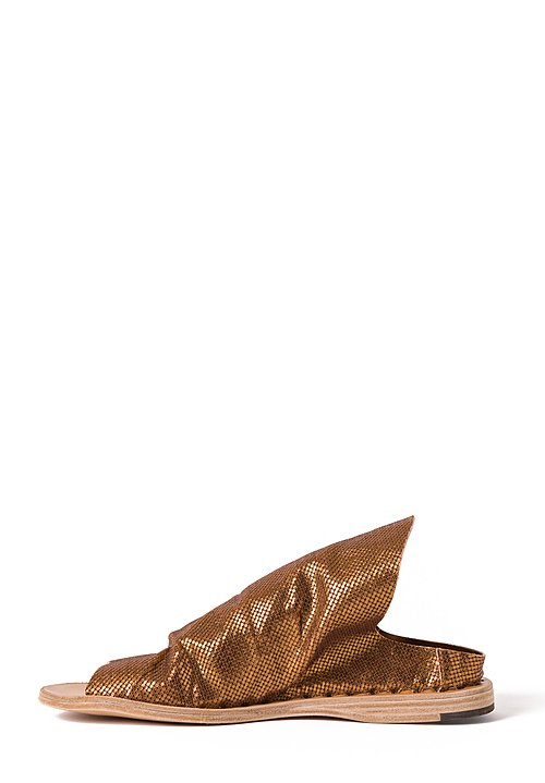 Officine Creative Itaca Roll Sandals in Bronze