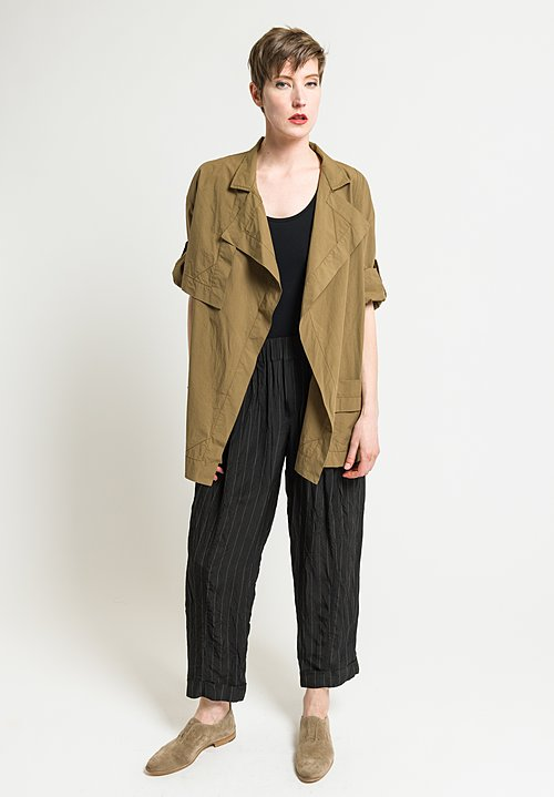 Urban Zen Poplin Trench Jacket in Tobacco