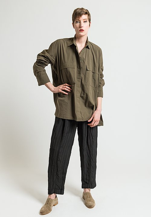 Urban Zen Poplin Shirt in Incense