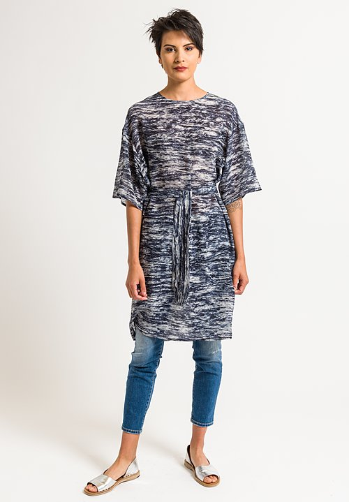 Anntian T-Shirt Tunic in Dark Blue