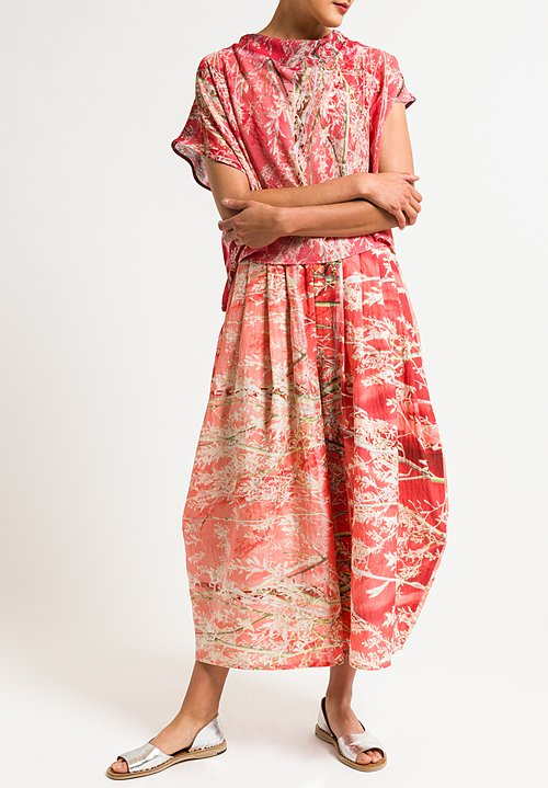 Anntian Wide Leg Printed Pants in Felsenbirne