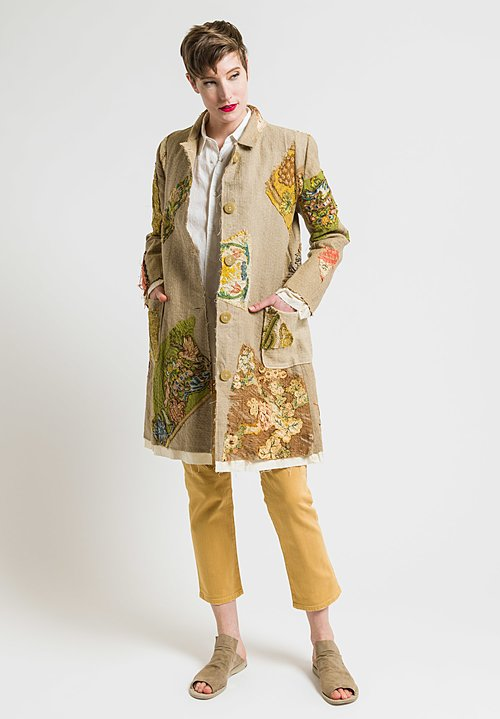 By Walid Tapestry Story Martha Jacket in Gold/Natural