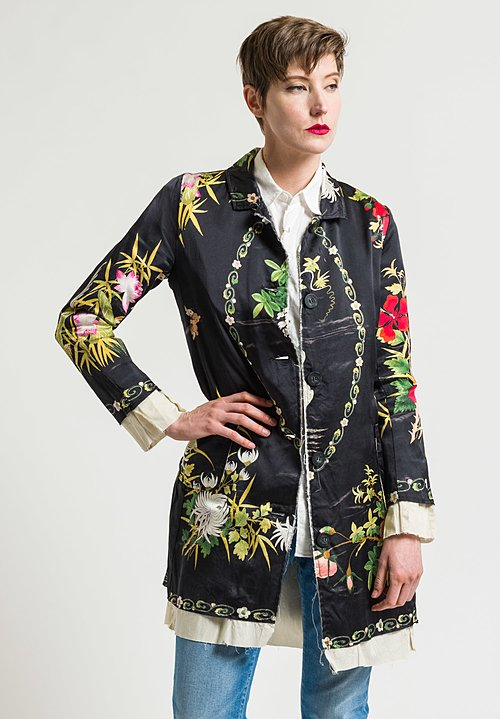 By Walid Martha Jacket in Black Wisteria