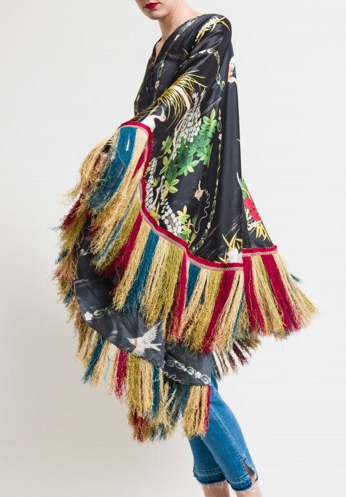 By Walid Conchita Poncho with Multicolor Fringe