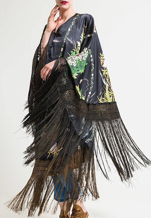 By Walid Conchita Poncho in Brown Fringe