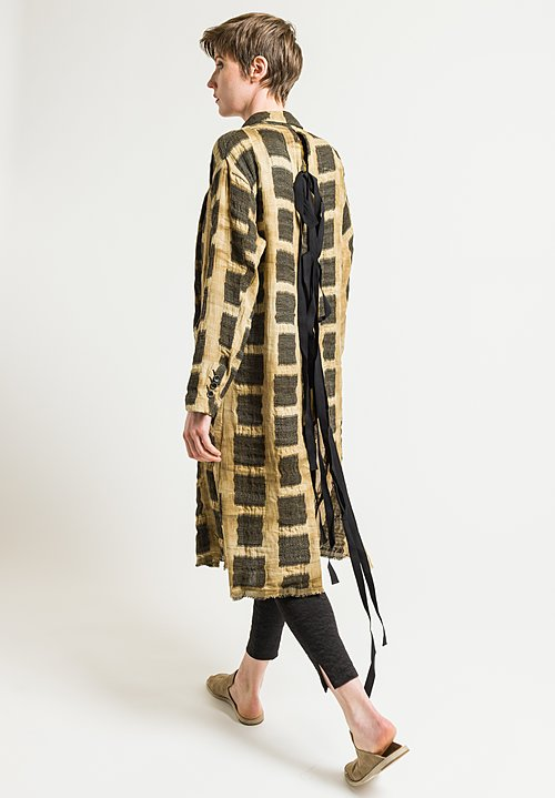 Uma Wang Rimorso Colene Coat in Tan/Black