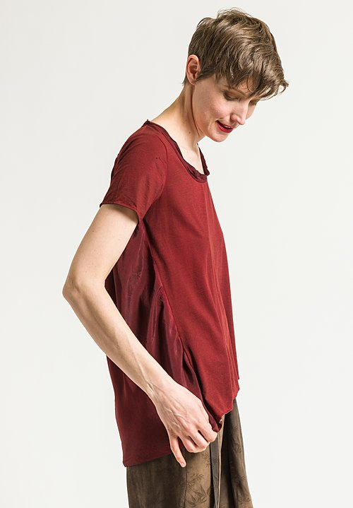 Uma Wang Candore Jade Top in Red