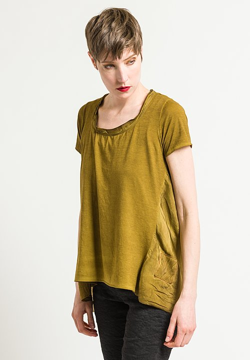 Uma Wang Candore Jade Top in Olive