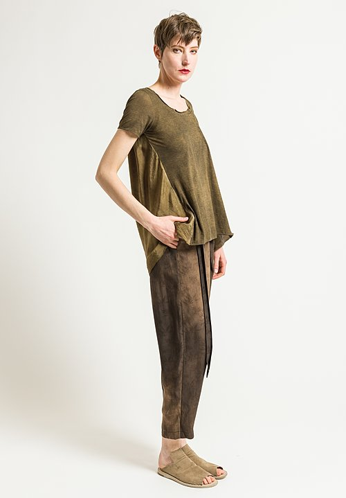 Uma Wang Candore Jade Top in Grey Brown