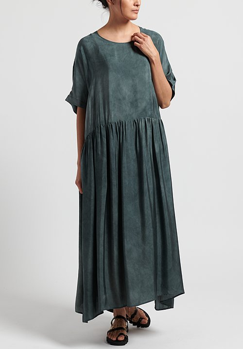 Uma Wang Moulay Anevy Dress in Steel Blue