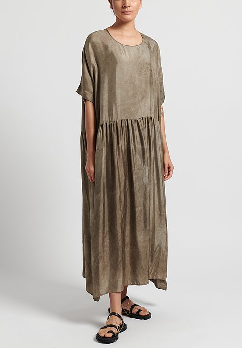 Uma Wang Moulay Anevy Dress in Grey Brown
