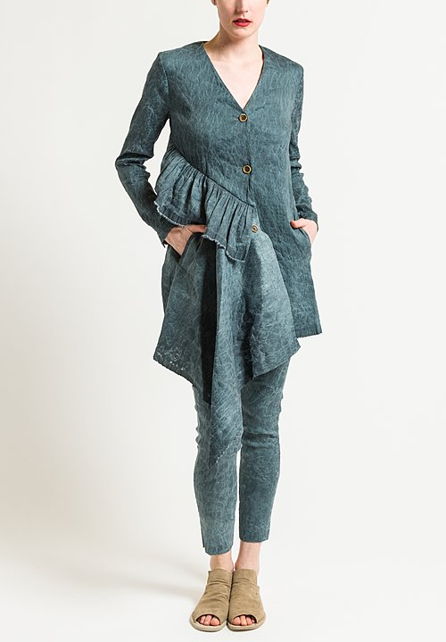 Uma Wang Celeno Kolena Jacket in Steel Blue