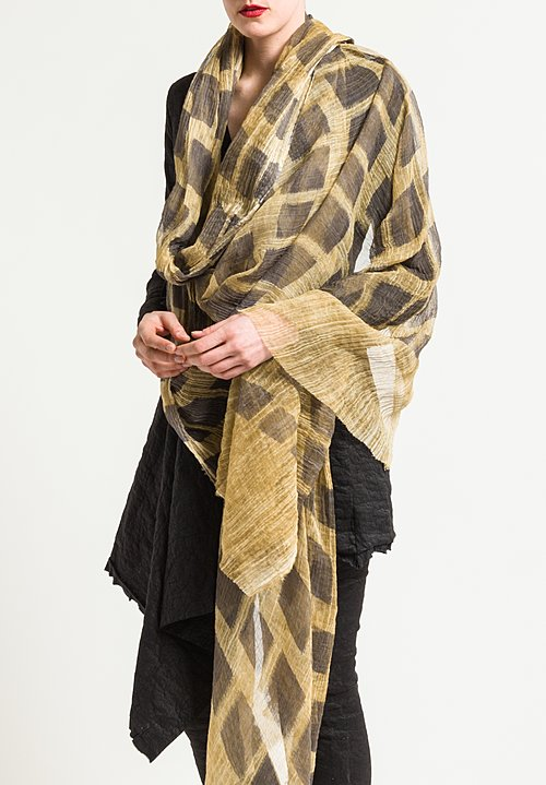 Uma Wang Scarf in Tan/Black