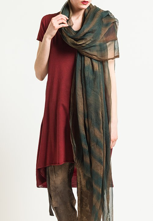 Uma Wang Emisfero Shi Scarf in Brown/Green